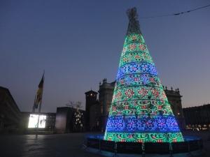Torino 11 dicembre 2014, piazza Castello foto, Romano Borrelli