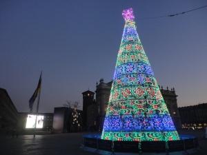 Torino 11 dicembre 2014,piazza Castello,  foto, Romano Borrelli