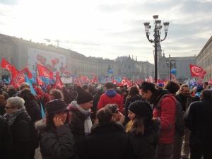 Torino 12 dicembre 2014, Piazza San Carlo, foto, Borrelli Romano