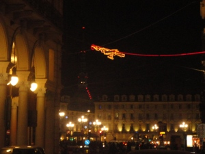 Torino, 12 dicembre, piazza Castello e la Mole. Foto, Romano Borrelli