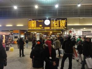 Torino, 24 dicembre 2014, atrio stazione Porta Nuova. Foto, Romano Borrelli