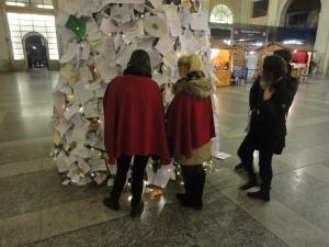 Torino 24 dicembre 2014, atrio Stazione Porta Nuova. Foto, Romano Borrelli