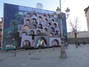 Torino 25 dicembre 2014. Piazza Castello, foto Borrelli Romano