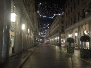 Torino 25 dicembre 2014, via Roma. Foto, Borrelli Romano
