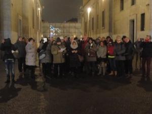 Torino 27 dicembre 2014, foto di gruppo in via Roma, foto, Romano Borrelli