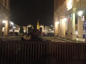 Torino 31 dicembre 2014, via Roma e il film Piazza San Carlo, foto, Borrelli Romano