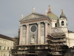 Torino 7 dicembre 2014, Maria Ausiliatrice, fine lavori. Foto, Romano Borrelli