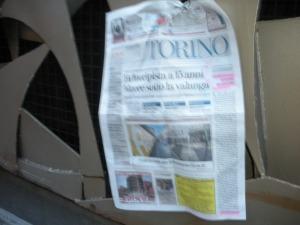 Torino, dicembre 2013, La Stampa su via Verdi, foto, Romano Borrelli