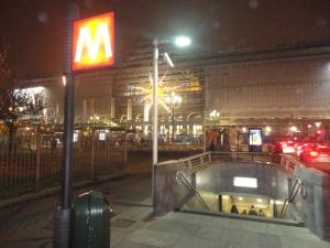 Torino fermata metro. 8 dicembre 2014. Foto, Romano Borrelli
