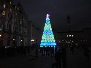 Torino, piazza Castello. Aspettando l'accensione dell'albero di Natale, foto, Romano Borrelli