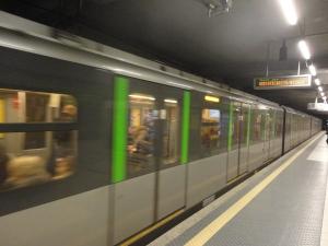 Milano 6 gennaio 2015, metropolitana  linea verde. Foto, Romano Borrelli