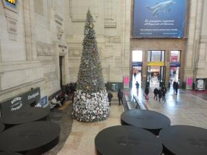 Milano Centrale. Albero di Natale. 6 gennaio 2015. Foto, Romano Borrelli