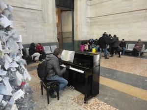 Milano, stazione Centrale. 6 gennaio 2015.  Foto, Romano Borrelli