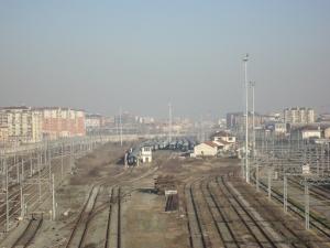 Torino 1 gennaio 2015, Lingotto, passarella. Foto, Romano Borrelli