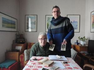 Torino 2 gennaio 2015, Sig. Natale Gherardi, cooperatore salesiano con Romano Borrelli. Foto, Romano Borrelli.