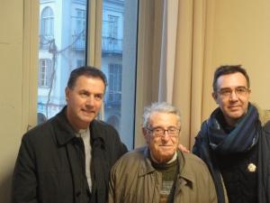 Torino 30 gennaio 2015. Maria Ausiliatrice. Il Rettor Maggiore, Artime, incontra Gherardi e Romano. Foto, Romano Borrelli.