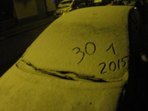 Torino 30 gennaio 2015. Neve a Torino. Foto, Romano Borrelli