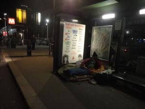 Torino 5 gennaio 2015, Porta Susa, fermata bus. Foto, Borrelli Romano