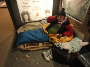 Torino 5 gennaio 2015, Porta Susa, fermata del bus, Costantino. Foto, Borrelli Romano