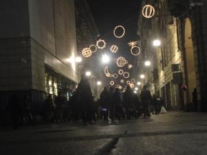 Torino 5 gennaio 2015, via Garibaldi, foto, Borrelli Romano