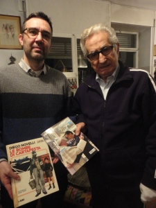 Torino, gennaio 2015. Diego Novelli, ex sindaco Torino e Romano Borrelli. Foto, Borrelli Romano