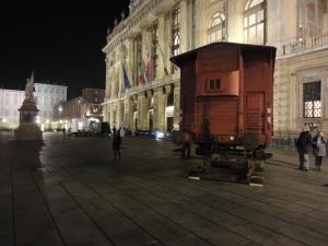 Torino, Piazza Castello, gennaio 2015.Foto Romano Borrelli
