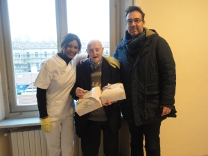 Torino 3 febbraio 2015. Per i 99 anni di Torre Giuseppe. Foto, Romano Borrelli