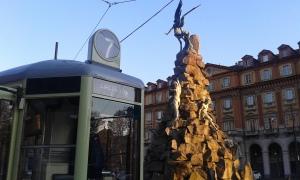 Torino tram a piazza Statuto.Foto Borrelli Romano