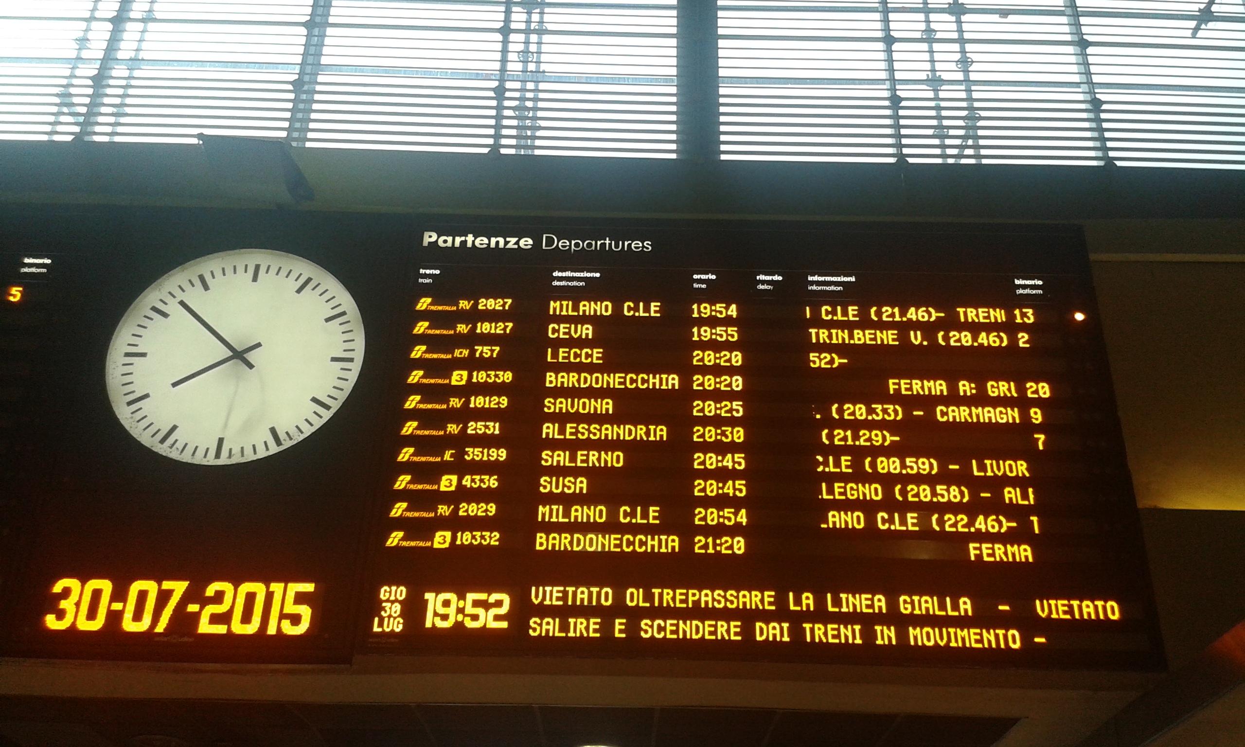Treno 757 il blog di romano borrelli - Pullman torino porta nuova caselle orari ...