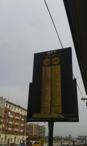 Torino, palina bus.foto Borrelli Romano