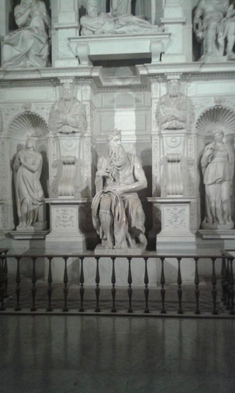 Mose' di Michelangelo.foto Borrelli Romano.Roma