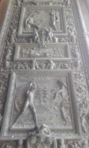 Loreto formelle porta Basilica.Borrelli Romano